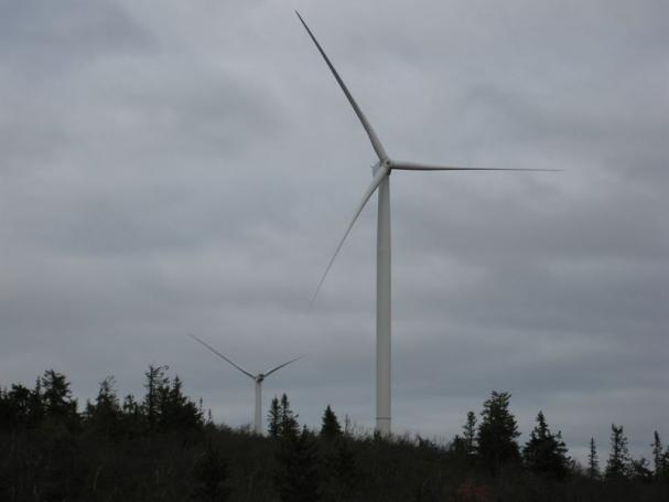 Exempelbild på vindkraftverk från Blaikens vindkraftspark.