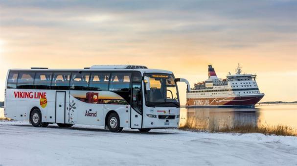 Viking Line Buss Vilja med Gabriella.