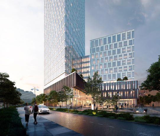 Visionsbild över Citygate, vy från Fabriksgatan (bilden är en illustration).