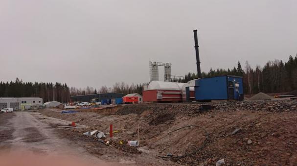 Fjärrvärmecentral på industriområdet Björnmossen.