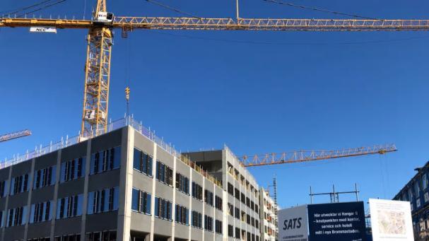 Sveriges största ICA Maxi växer fram i Bromma.