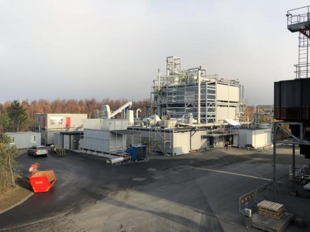 WoodRoll anläggningen i Höganäs (november 2018).