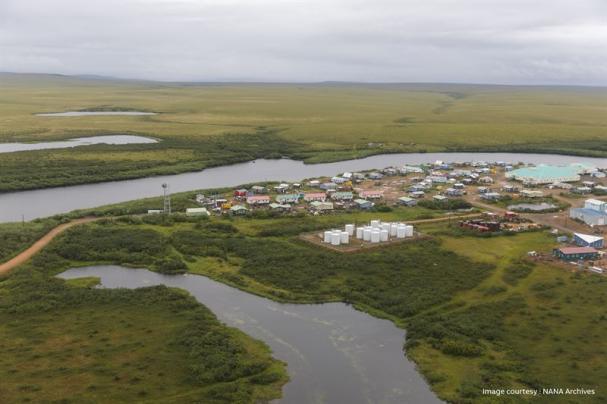 Buckland Alaska, där ABB ska optimera användningen av förnybar energi.