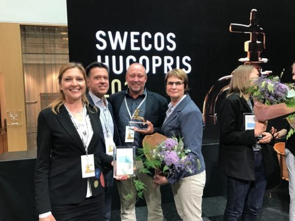 Glada pristagare mottog igår Swecos Hugo-priset för Årets Innovatör.