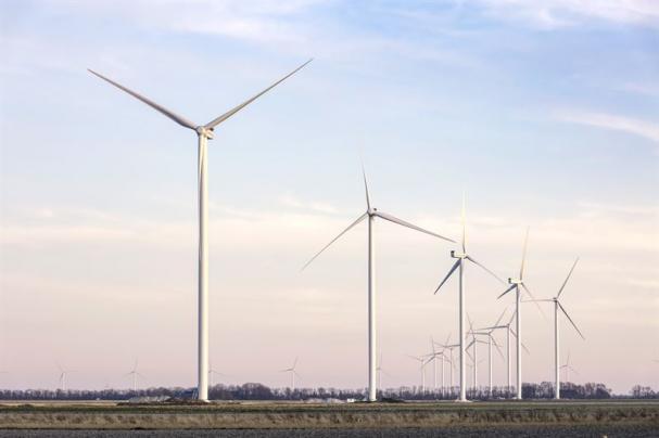 Prinsessan Ariane-parken, Nederländernas största landbaserade vindkraftspark.