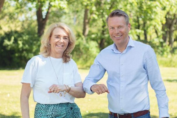 Charlotta Sund, vd- och koncernchef för Tekniska verken i Linköping och Bixias vd Pär Kaller.