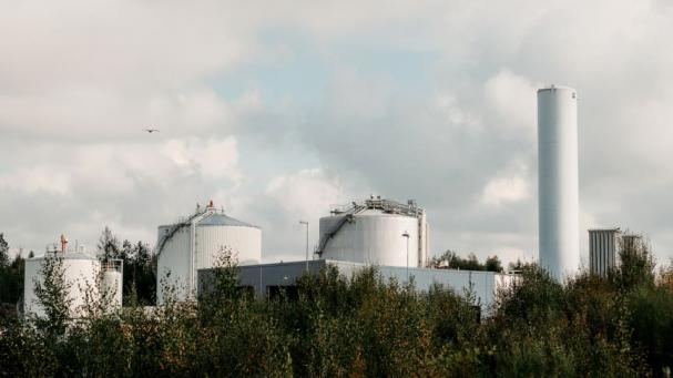 VafabMiljös biogasanläggning i Västerås.