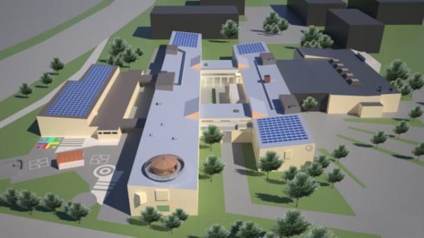Järfälla gymnasium är en av fastigheterna där solceller kommer installeras.