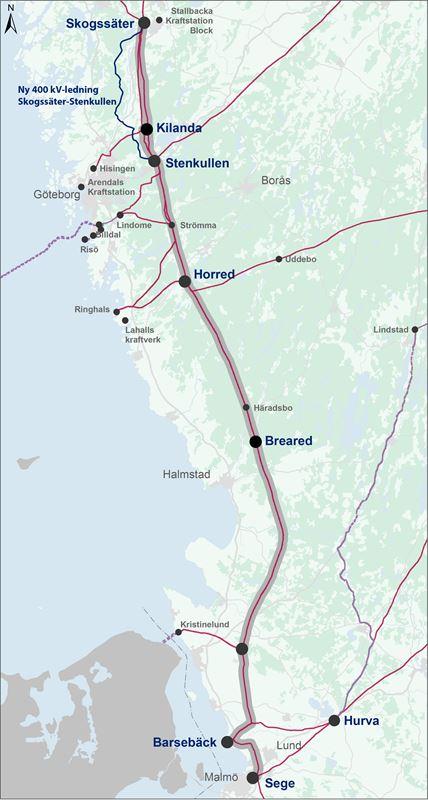 svenska kraftnät karta