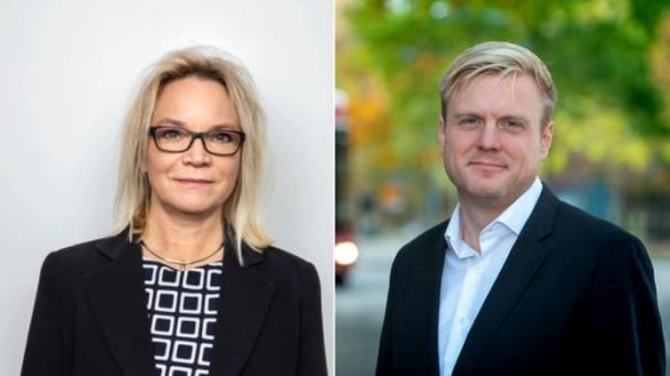 Charlotte Broberg (M) och Tomas Eriksson (MP)