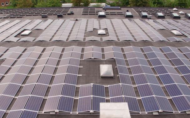 Malmös största solcellsanläggning finns på TePe i Malmö.