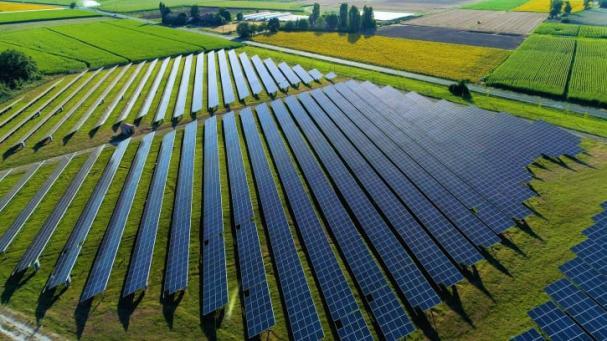 Swedbank och Eneo samarbetar för att bygga Sveriges största solpark. Bilden är en exempelbild och visar inte hur den faktiska parken kommer se ut.