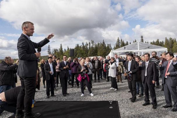 Mikael Lindmark, Blaikenvind, firar invigningen av Blaiken vindkraftpark med 160 gäster.
