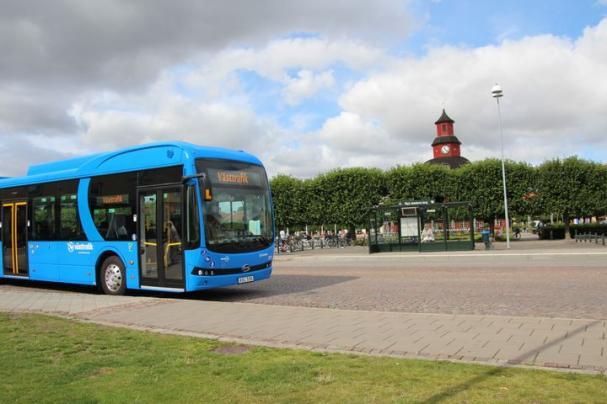 På måndag börjar Västtrafik köra elbussar i Lidköping. Hela stadstrafiken elektrifieras.