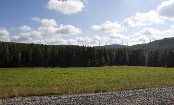 Fotomontage av hur Fred. Olsen Renewables nya vindkraftparken utanför Botsmark kommer att se ut.