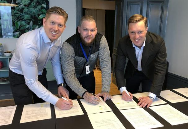 Tobias Eriksson, Marcus Waern och Gustaf Larsson Ernefelt.
