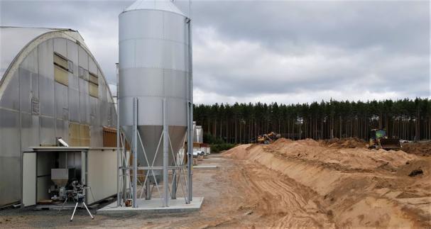 Biobränsleanläggning vid Stakhedens Plantskola.