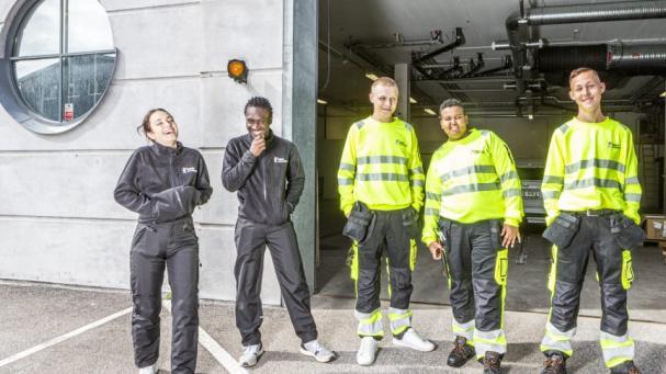 Den första årskullen elever vid Yrkesgymnasiet Borås trivs i de nyinredda och ändamålsenliga lokalerna på Getängsvägen.