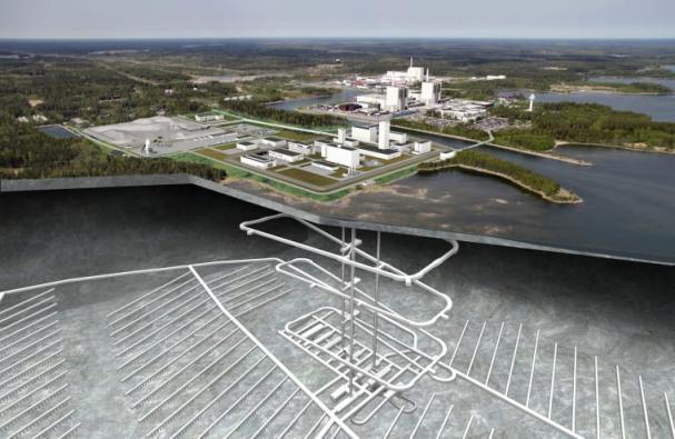 Det planerade Kärnbränsleförvaret i Forsmark.