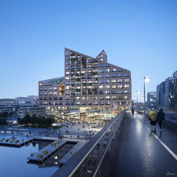 Kvarteret Kromet ska bli Göteborgs nya landmärke (bilden är en illustration).