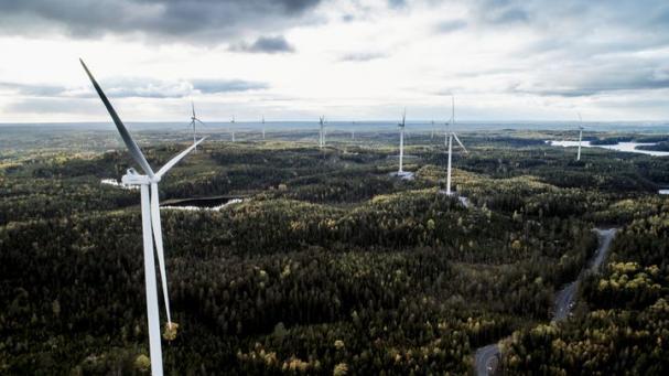 Vindpark Åby-Alebo kommer att få samma typ av verk som Stena Renewables Vindpark Kronoberget i Lekebergs kommun, som precis har tagits i drift (bilden).