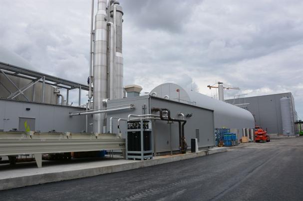 Biogasanläggningen i Högbytorp.