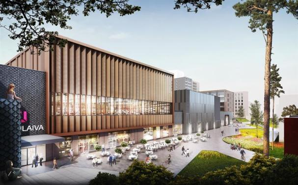 Visionsbild över Lippulaiva shoppingcenter (bilden är en illustration).
