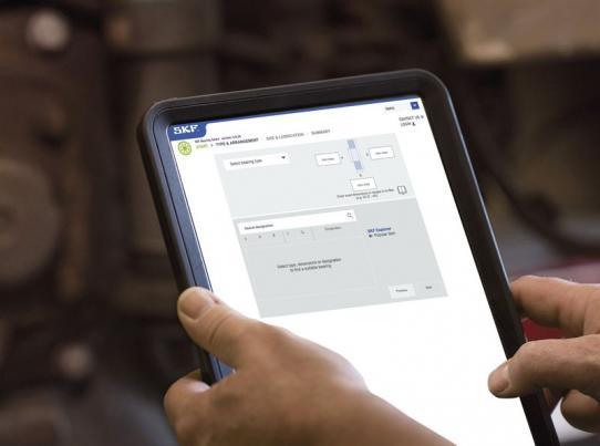 SKF:s onlineverktyg Bearing Select.