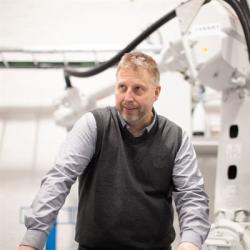 Christer Pekkala, ansvarig konstruktör Trackingsystemet.