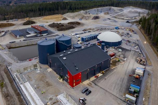 Biogasanläggningen började användas kommersiellt i januari 2021.