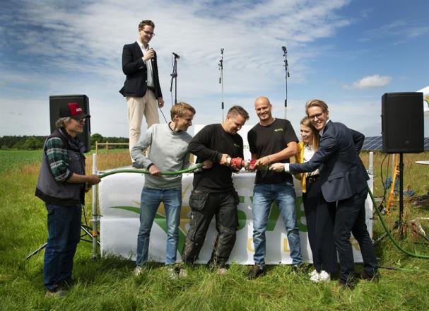 SVEA Solar med partners invigde Sparbanken Skåne Solcellspark den 13 juni 2019.