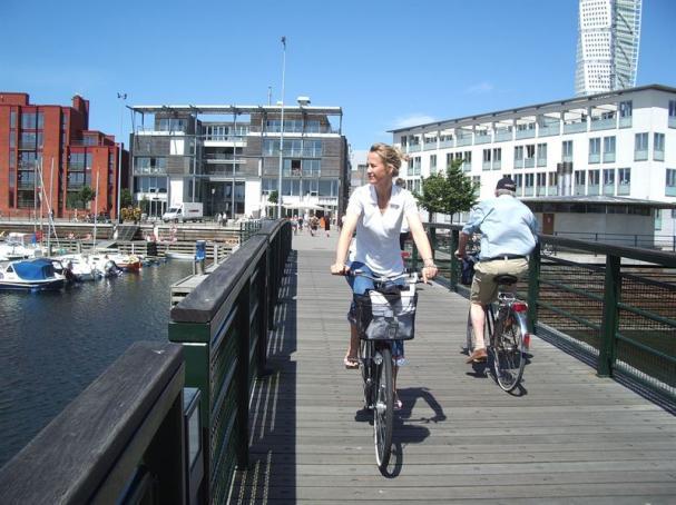 Cyklar i Malmö, som blev Årets Klimatstad 2011.