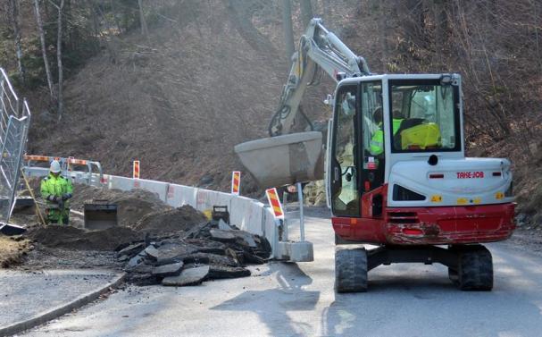 Projektet inleds med arbete längs Gammelgårdsvägen.