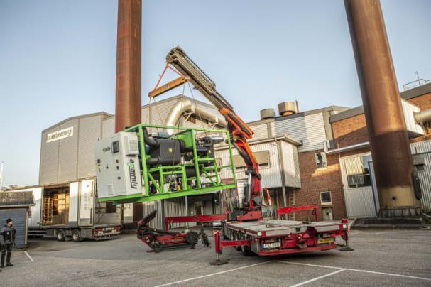Leverans av ORC-turbin till Solör Bioenergis fjärrvärmeanläggning i Svenljunga.