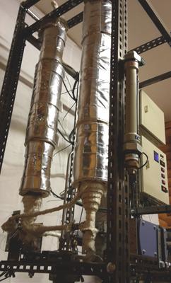 Forskare inom forskningsmiljön Bio4Energy vid Umeå universitet har byggt enpilotanläggning somkan leverera upp till 250 liter biobränsle per dygn.