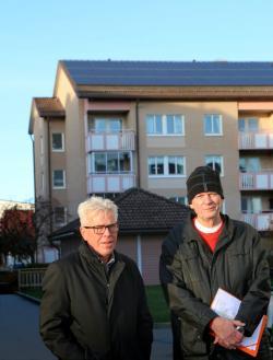 Tomas Ring och Nils-Erik Findell sitter i styrelsen för BRF Karlavagnen.