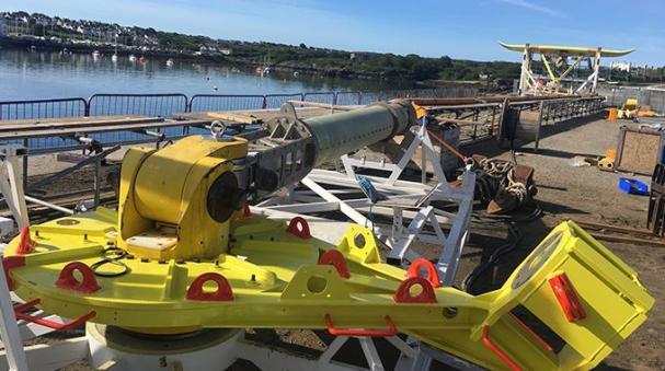 Tester utförs på Minestos DG500kraftverk vid Holyhead Deep utanför Wales kust.