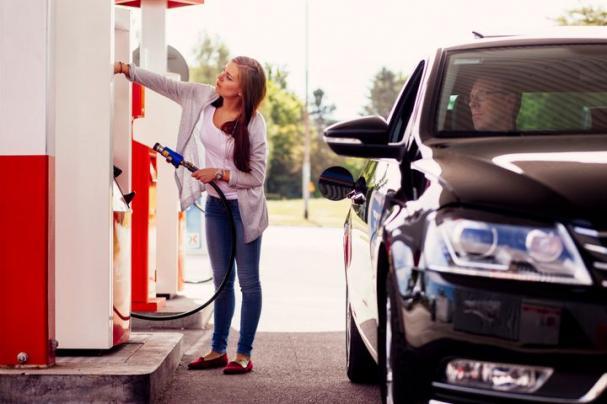 Tankställe för fordonsgas.