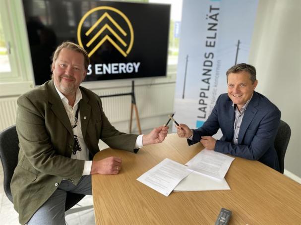 Pär Dunder, CEO W3 Energy, och Tomas Ölvebring, CEO Lapplands Elnät AB.