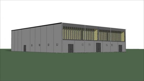 Modell av elkraftsanläggningen.