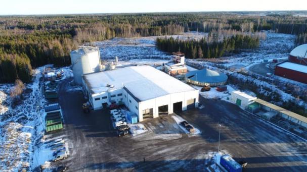 Biogasanläggningen på Önsta Gryta.