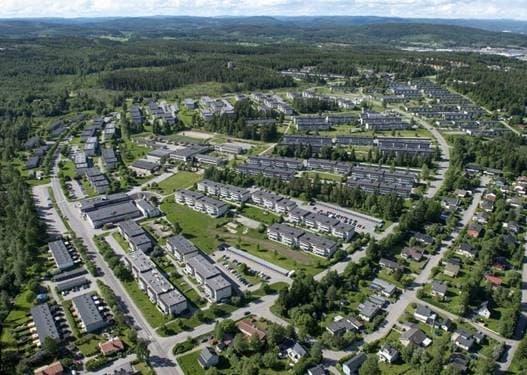 Översiktsbild på Brf Bosvedjan i Sundsvall.