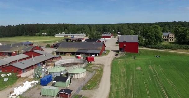 Översiktsbild över en del av Naturbruksskolan Sötåsen.