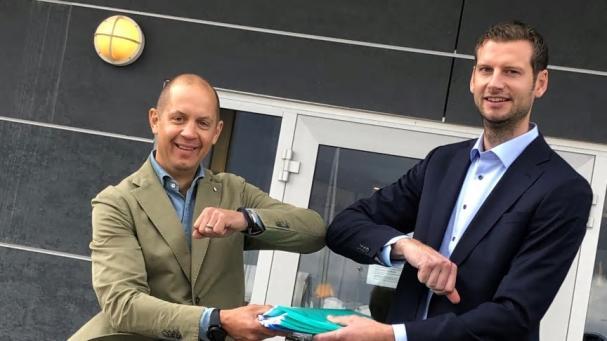 Magnus Sundström, VD Wibax Logistics AB, och Linus Romfelt, Logistikchef, SunPine.