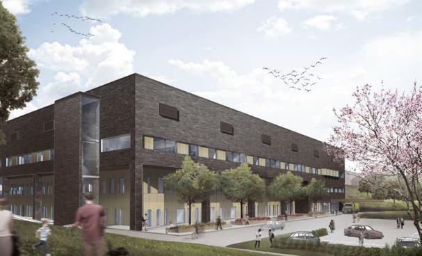 Visionsbild överprojektet FORTH, Framtidens Ortopedi i Hässleholm (bilden är en illustration).