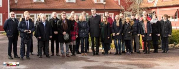 Gruppfoto från ett tidigare studiebesök som genomfördes i Oskarshamn - mars 2017
