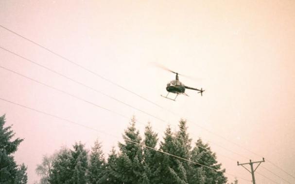Elledningar ska enligt lag besiktas regelbundet och då är helikopter ett utmärkt hjälpmedel.