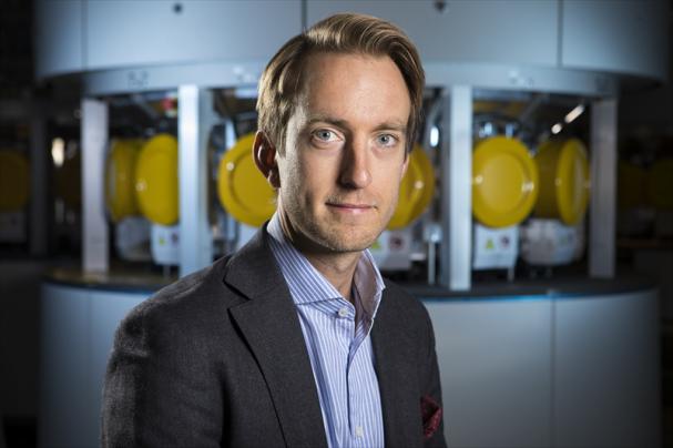 Christoffer Löfquist, affärsområdeschef för solpaneler, och ny del av Midsummers ledningsgrupp.