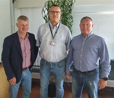 Lämpotekniikka går in i Instalco. Från vänster: Pekka Järvinen, Marko Hiltunen och Petri Honka.