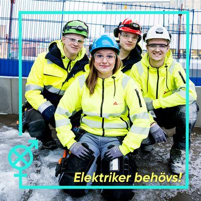 Bild från kampanjen Elektriker behövs